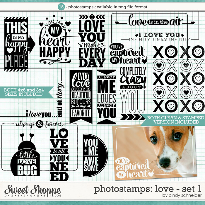 Cindy's Photostamps - Love Set 1 by Cindy Schneider