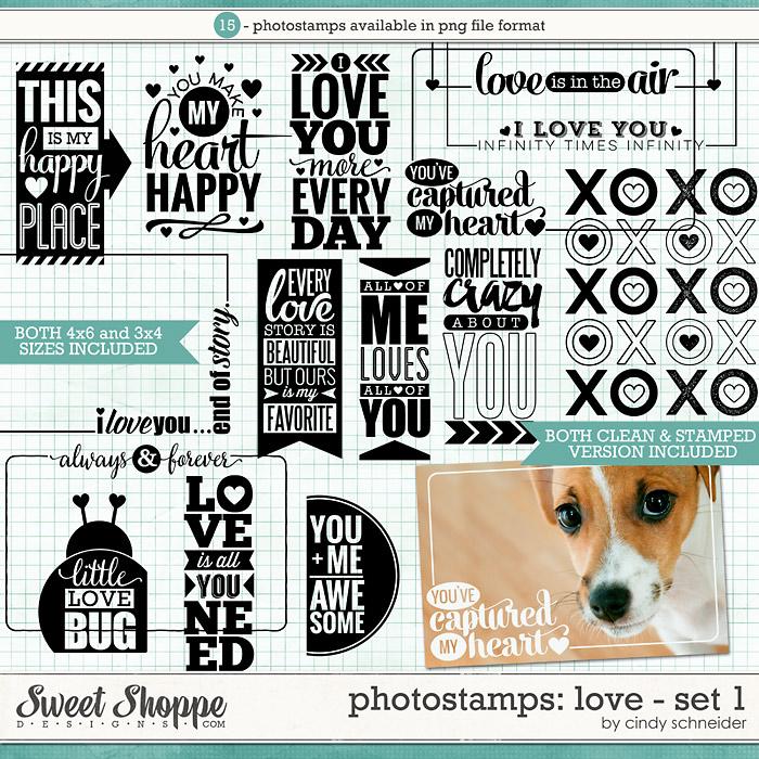 Cindy's Photostamps - Love Set 1 by Cindy Schneider
