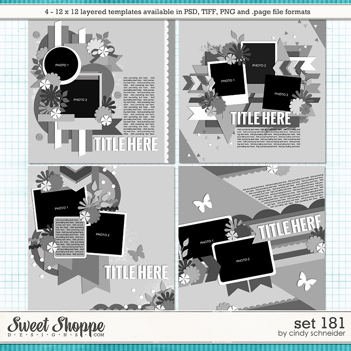 Cindy's Layered Templates - Set 181 by Cindy Schneider