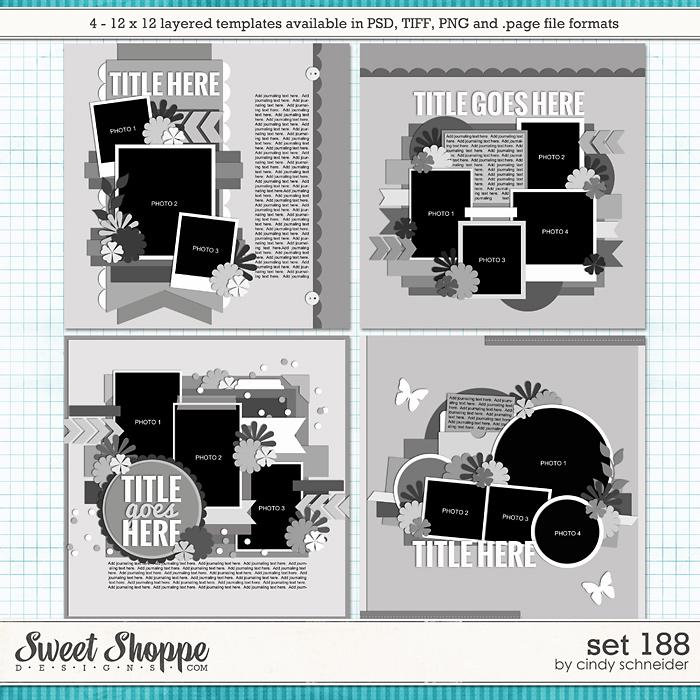 Cindy's Layered Templates - Set 188 by Cindy Schneider