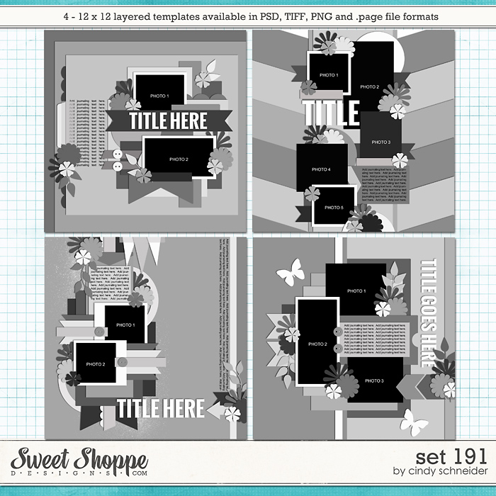 Cindy's Layered Templates - Set 191 by Cindy Schneider