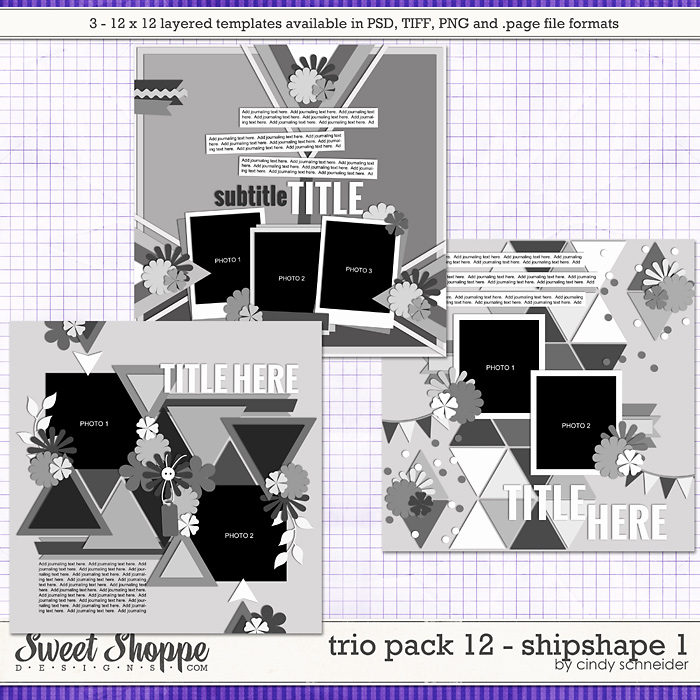 Cindy's Layered Templates - Trio Pack 12: Shipshape 1 by Cindy Schneider