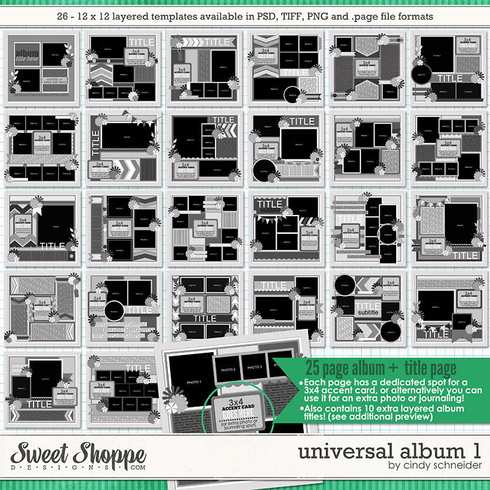 Cindy's Layered Templates - Universal Album 1 by Cindy Schneider