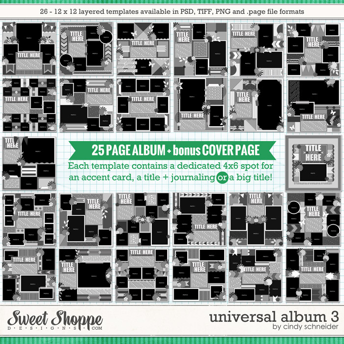 Cindy's Layered Templates - Universal Album 3 by Cindy Schneider
