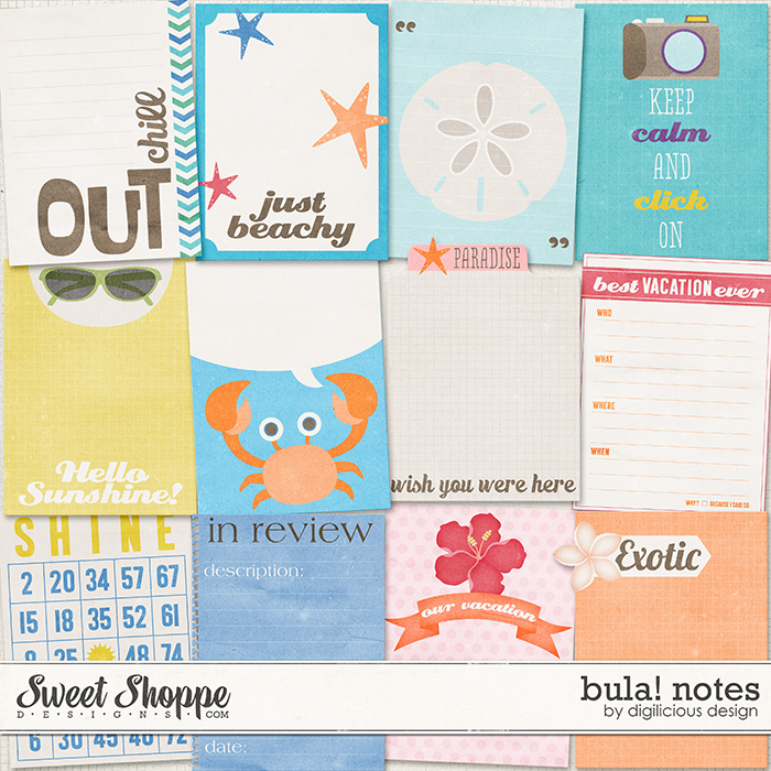 Bula! Notes by Digilicious Design