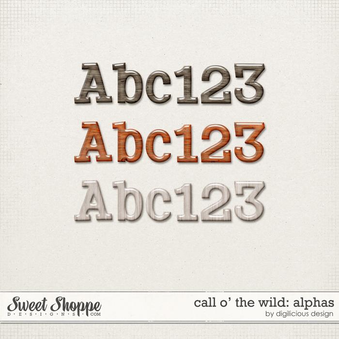 Call O' The Wild Alphas by Digilicious Design