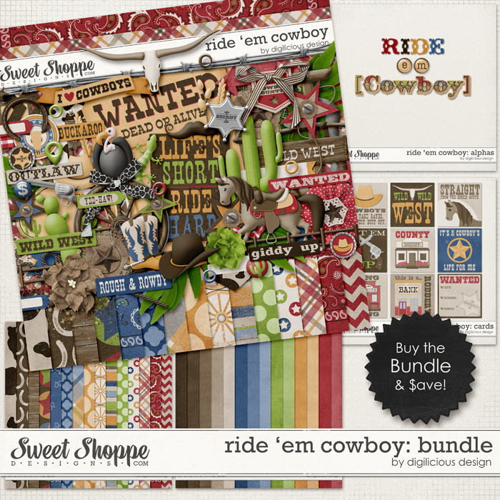 Ride 'em Cowboy Bundle by Digilicious Design