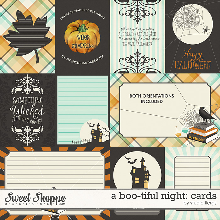 A Boo-tiful Night: JOURNAL CARDS by Studio Flergs