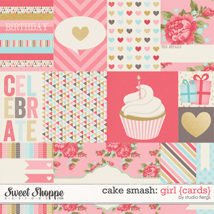 Cake Smash: GIRL {cards} by Studio Flergs