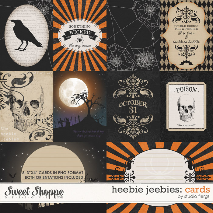 Heebie Jeebies: JOURNAL CARDS by Studio Flergs