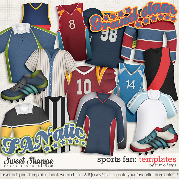 Sports Fan: TEMPLATES by Studio Flergs