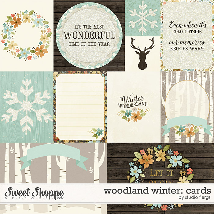 Woodland Winter: CARDS by Studio Flergs