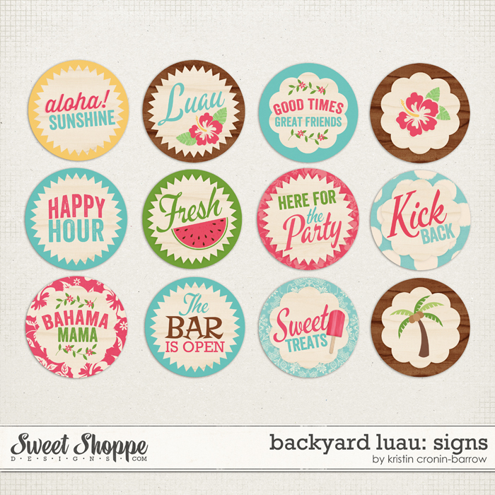 Backyard Luau: Signs by Kristin Cronin-Barrow