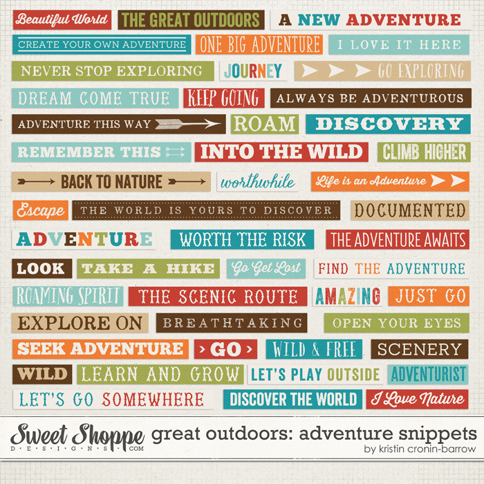 Great Outdoors: Adventure Snippets by Kristin Cronin-Barrow