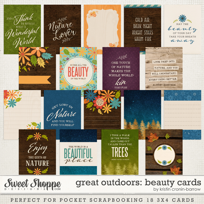 Great Outdoors: Beauty Cards by Kristin Cronin-Barrow