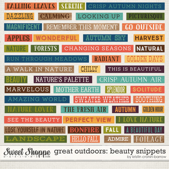 Great Outdoors: Beauty Snippets by Kristin Cronin-Barrow