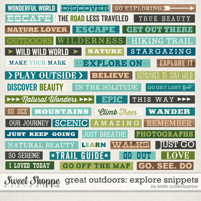 Great Outdoors: Explore Snippets by Kristin Cronin-Barrow