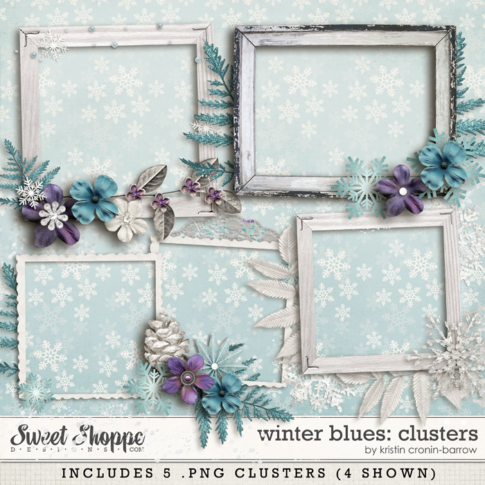 Winter Blues: Clusters by Kristin Cronin-Barrow