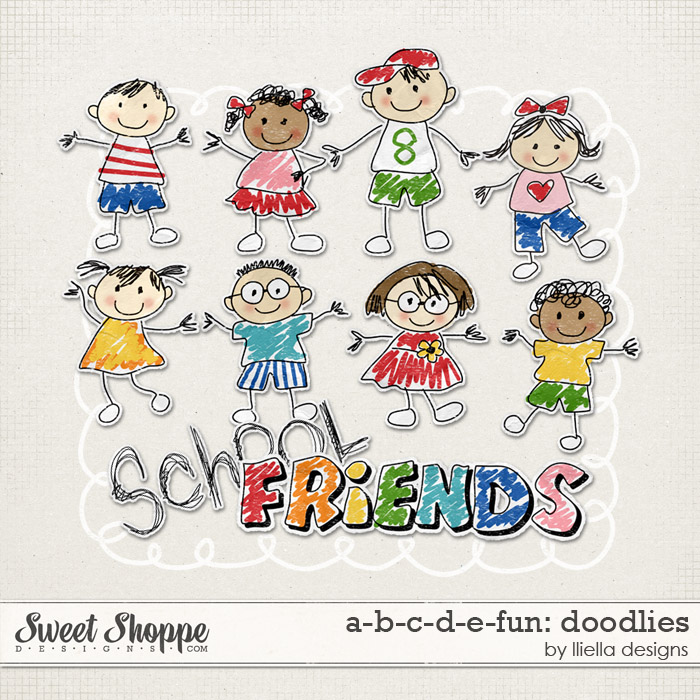 A-B-C-D-E-Fun: Doodlies by lliella designs
