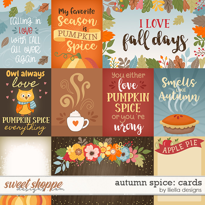 Autumn Spice Cards by lliella designs
