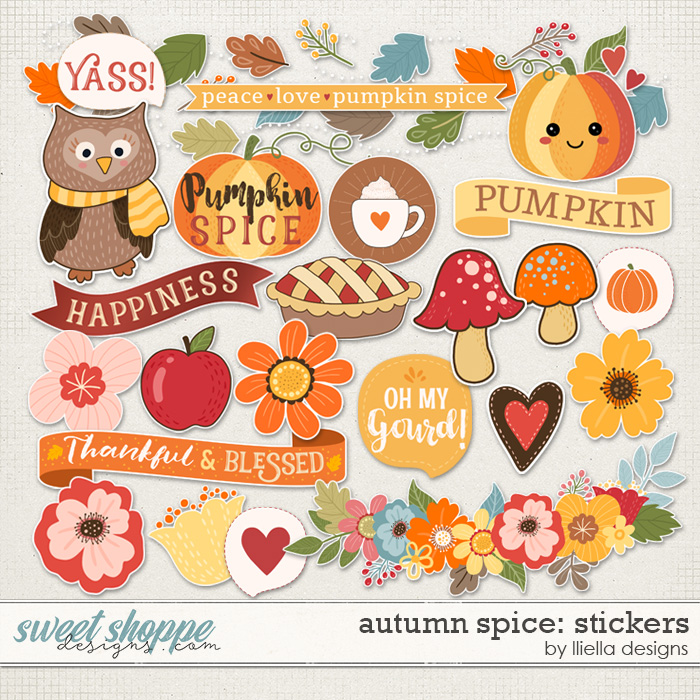 Autumn Spice Stickers by lliella designs