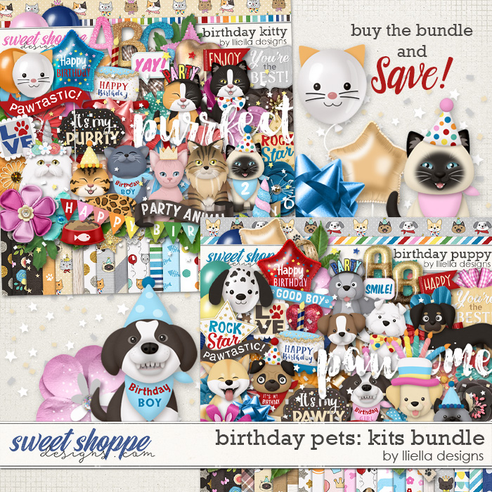 Birthday Pets Kits Bundle by lliella designs