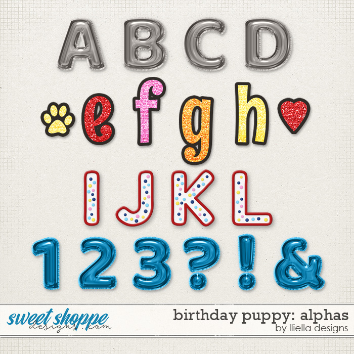 Birthday Puppy Alphas by lliella designs