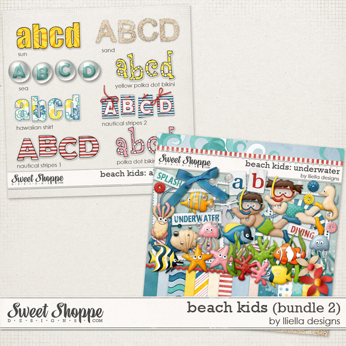 Beach Kids (Bundle 2) by lliella designs
