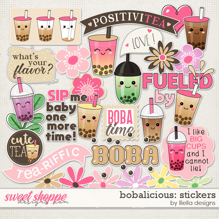 Bobalicious Stickers by lliella designs