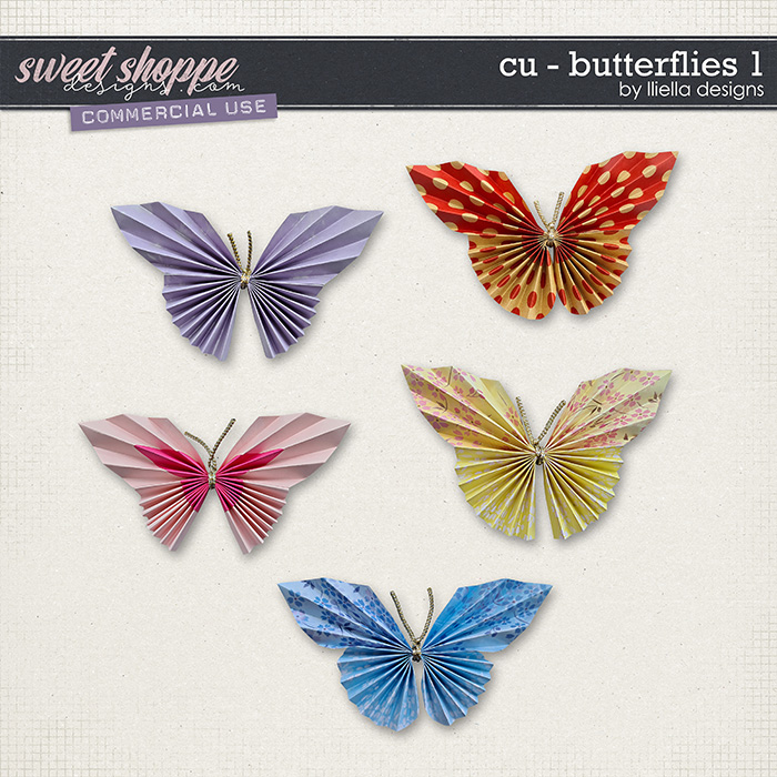 CU - Butterflies 1 by lliella designs