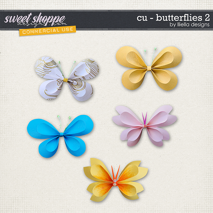CU - Butterflies 2 by lliella designs
