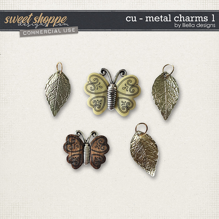 CU - Metal Charms 1 by lliella designs