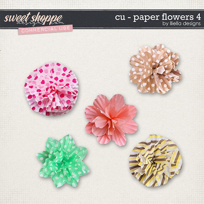 CU - Paper Flowers 4 by lliella designs