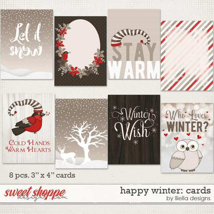 Happy Winter: Cards by lliella designs