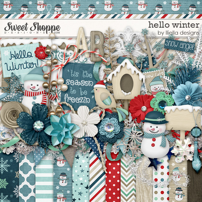 Hello Winter by lliella designs