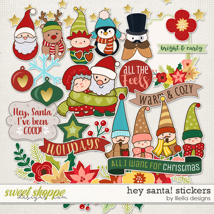 Hey Santa! Stickers by lliella designs