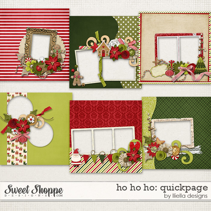 Ho Ho Ho: Quickpage by lliella designs