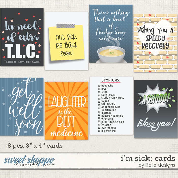 I'm Sick: Cards by lliella designs