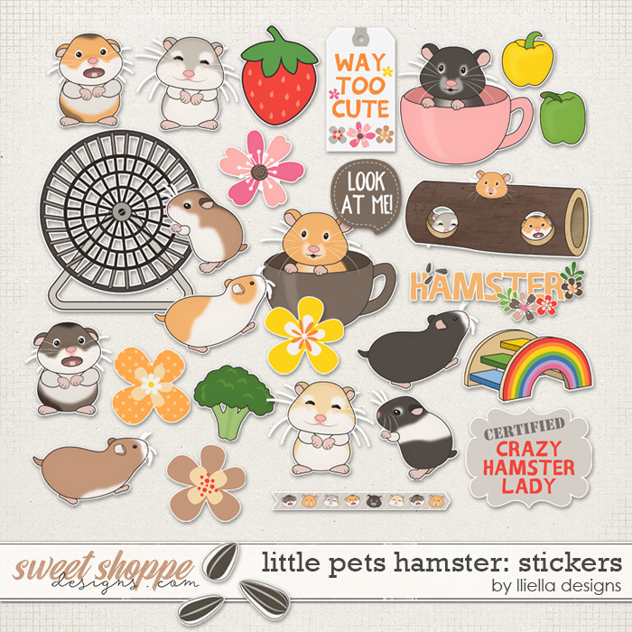 Little Pets Hamster Stickers by lliella designs
