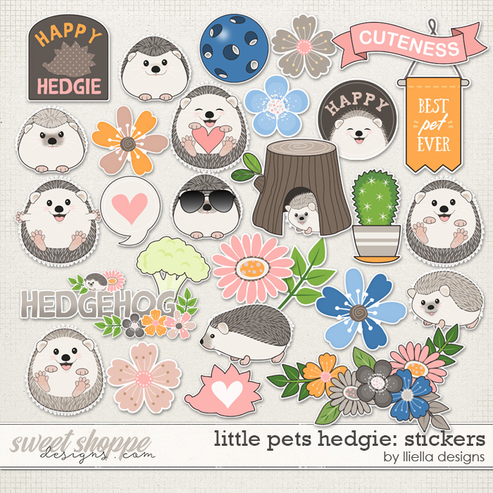 Little Pets Hedgie Stickers by lliella designs