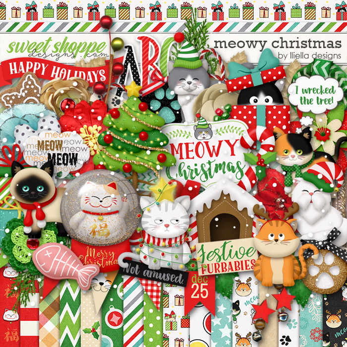 Meowy Christmas by lliella designs