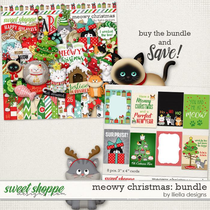 Meowy Christmas: Bundle by lliella designs