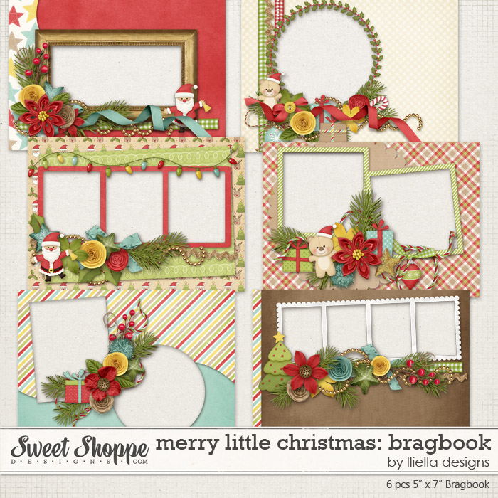 Merry Little Christmas: Bragbook by lliella designs