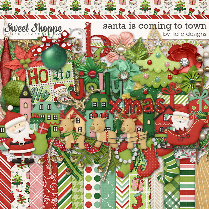 Santa is Coming to Town by lliella designs