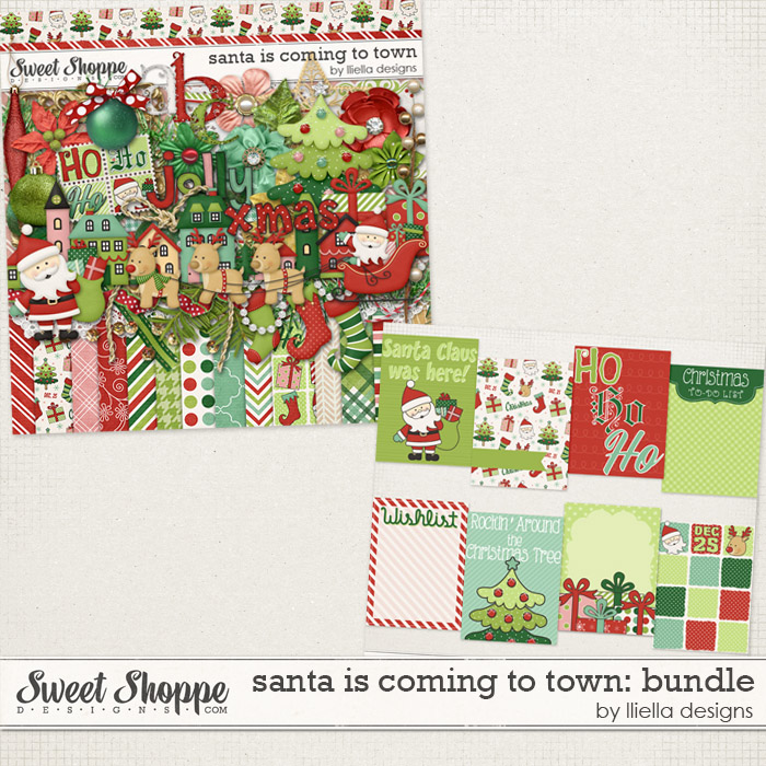Santa is Coming to Town: Bundle by lliella designs