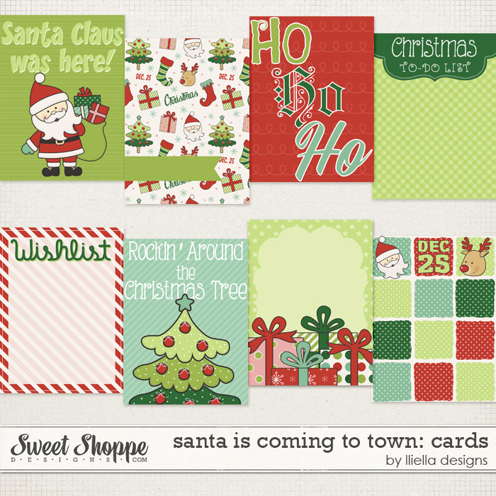Santa is Coming to Town: Cards by lliella designs