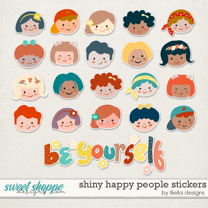 Shiny Happy People Stickers by lliella designs