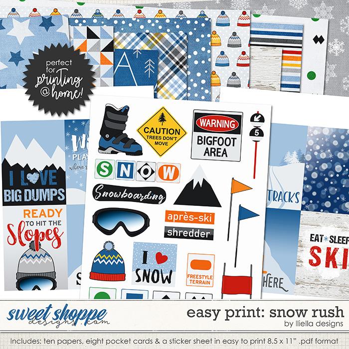 Easy Print: Snow Rush by lliella designs