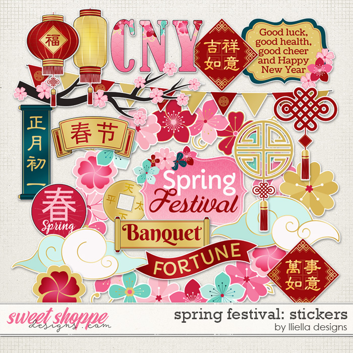 Spring Festival Stickers by lliella designs