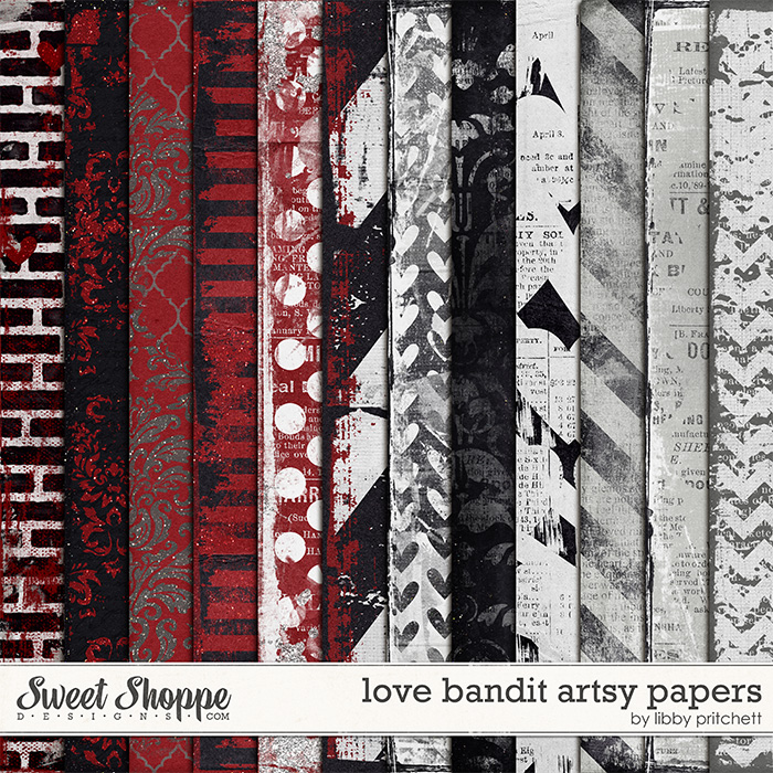 Love Bandit Artsy Papers by Libby Pritchett